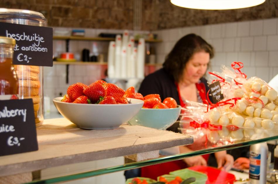 Hotspot aardbei amsterdam verse aardbeien