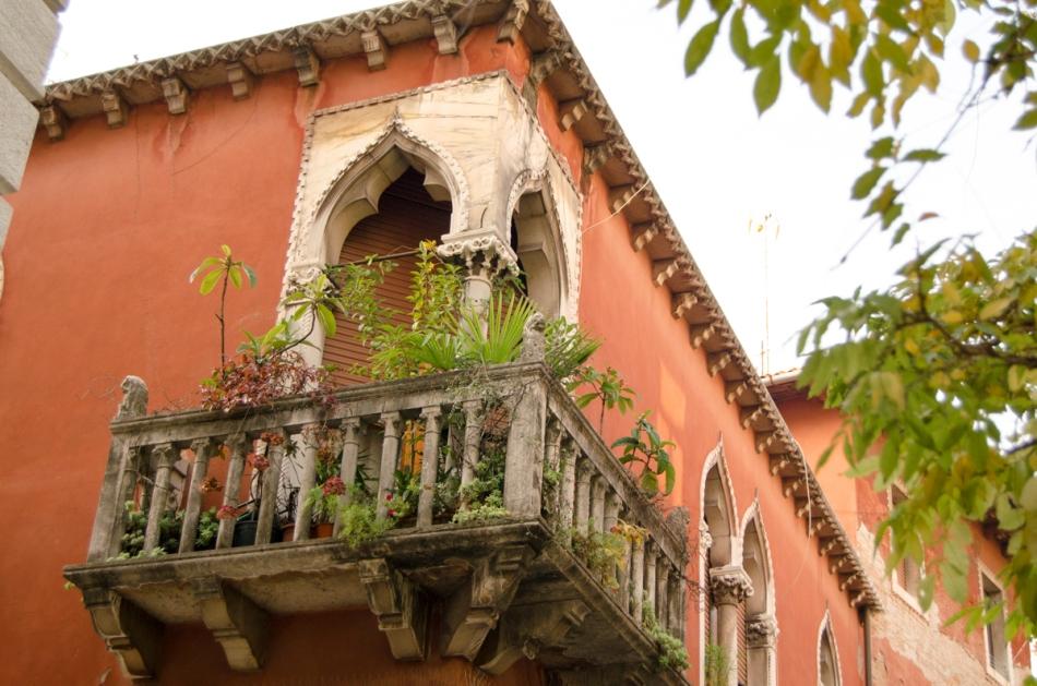 Balkon Venetië Italië