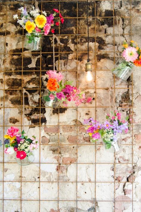 Hotspot Meneer Peer muur bloemen