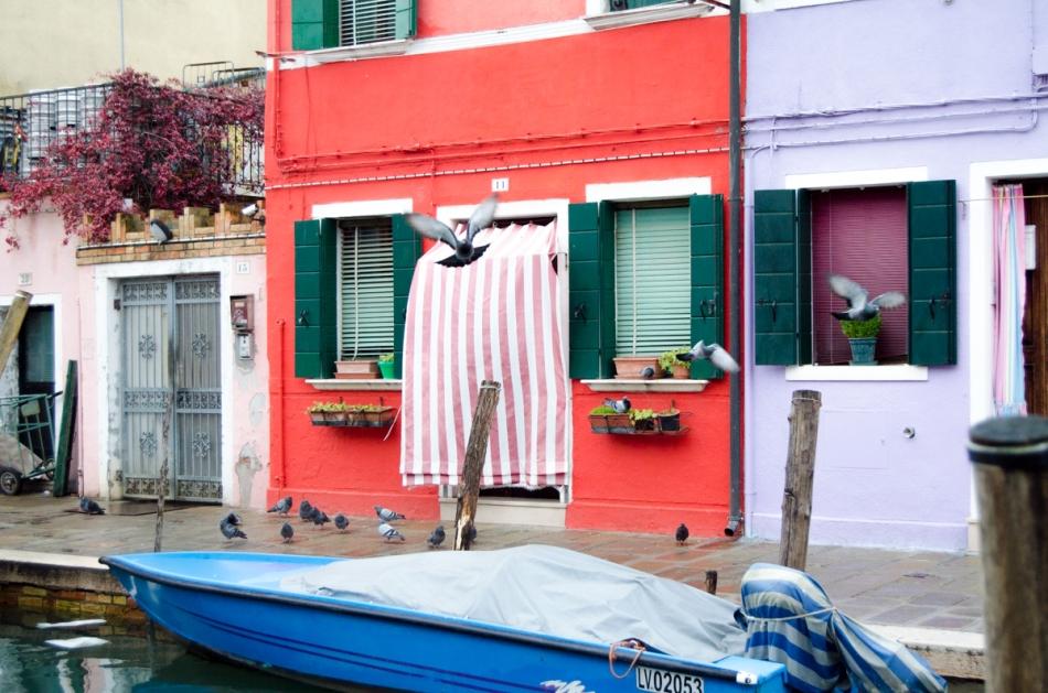 Burano eiland Venetië kleurijke huisjes