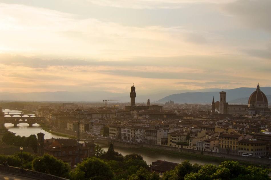 Florence uitzicht Piazzale Michelangelo